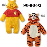 Male and female tiger Bal Vinnie Bareng cartoon baby romper suit Leotard