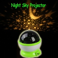 Freeshipping New Room Green Night Light Lamp Rotary Flashing Starry Star Moon Sky Cosmos Projector ,dropshipping