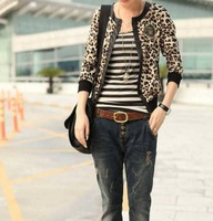 spring new arrival formal cardigan short jacket women slim jacket fashion outerwear leopard print female