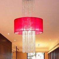 Brief modern home cloth wiredrawing crystal tassel pendant light lamp