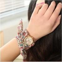 Trend 2013 sweet chiffon girls watch fashion watch/grain cloth women's fashion watch