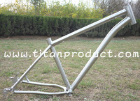 3AL/2.5V Titanium Snow Bike Frame ID44mm Headtube/Internal Cable Rounting/Sliding Dropouts