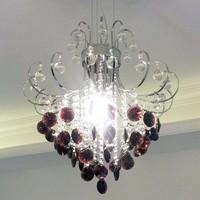 Modern brief Wine red purple crystal dining room crystal lamp pendant light lighting lamps 8241