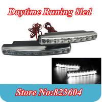 Wholesale 20pcs 8 LED Universal Car Head Lamp Car Light DRL Daytime Running Light