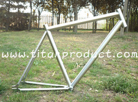 Grade 9 Titanium Track Bicycle Frame for Belt Drive