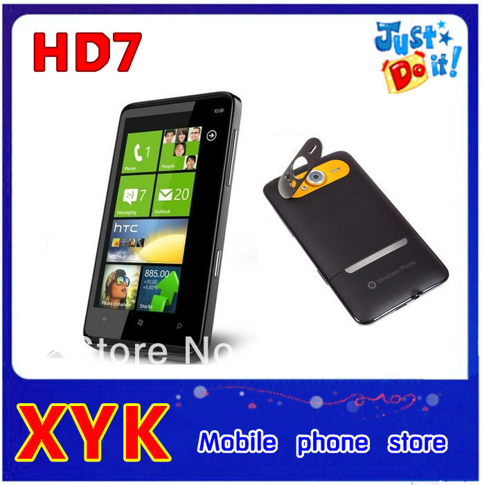 Hot sale original unlocked T9292 HD7 3G Windows Phone 7 T-Mobile GPS WIFI 5MP 4.3''TouchScreen Unlocked Cell Phone In Stock(China (Mainland))