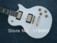 Wholesale -2012 New Arrival Custom Shop White earth headstock L P Electric guitar Gold Hardware in stock / with Gift