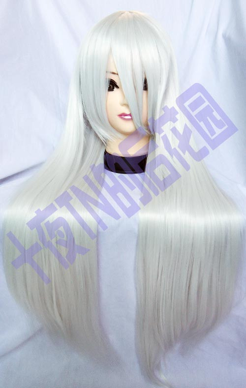 Silver high temperature - tn 1 meters inuyasha mercury lamp bamboo cos wig(China (Mainland))