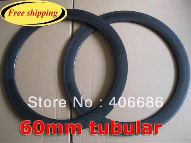 Free shipping!!!60mm tubular carbon rims,700C 20/24 holes carbon bike rims(China (Mainland))