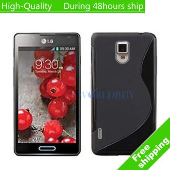 High Quality Soft TPU Gel S line Skin Cover Case For LG Optimus L7 II Dual P715 Free Shipping UPS DHL EMS HKPAM CPAM