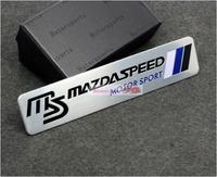 10pcs 10/lot MS Emblems Badge Sticker metal For Mazda 2 3 5 6 mx-5 cx-5 cx-9 Free Shipping High Quality Wholesale