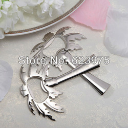Personalized Zinc Alloy Bottle Opener Silvery Palm Tree Bottle Opener (Set of 4 Pieces individually gift boxed)(China (Mainland))