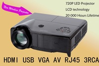 Wireless Projector for Home Business 3000 Lumens 720p LED Projector
