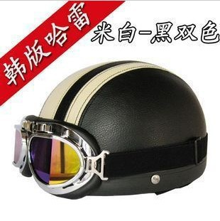 Free shipping/han edition Harley motorcycle helmet quality goods shop men's and women's four seasons general leather helmet(China (Mainland))
