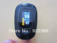 Fingertip digital Pulse Oximeter SpO2 and heart rate monitor Color OLED display 4 direction 6 mode ALL BLACK