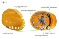 Freeshipping  Hongsheng   PP Shell   Safety Helmet for Workers    YS-3