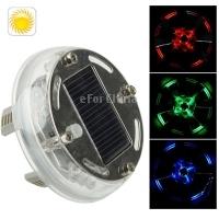 4pcs/lot LQ-S09 New Style LED Decorative Lights Solar Energy Car LED Colorful Flash Wheel Lights, 3 Colors with Warning Model