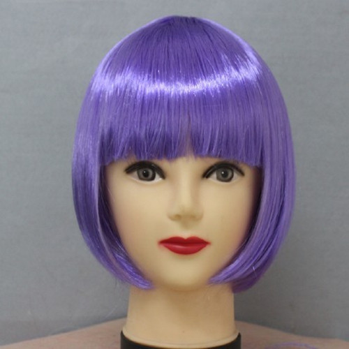 12' Hot Sales 2013 Bobo Wig Purple Short Straight 100% Synthetic 120G Hair Wigs FS-ZS 1Piece/Package+Free Shipping Wigs(China (Mainland))