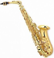 High quality goldlacquer alto Saxophone brass body Eb