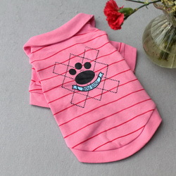 Free shipping!Dog summer dog little feet printing cotton pet T shirts dog clothes dog Teddy clothing puppy clothes(China (Mainland))