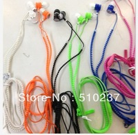 2013 new, creative fashion zipper headset, In-Ear Stereo Music headset,A mobile phone / player etc.,DHL Express Free Shipping