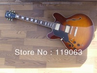 Left Hand electric ES JAZZ 335 Semi-hollow Electric Guitar Sunset High Quality in stock free shipping