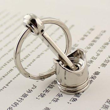 10pcs/lot,Polished Chrome,Creative Hot Engine Piston Keychain Key Chain Ring Key Fob Keyring 86097