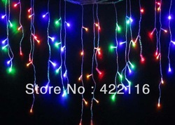 4 meters 96 SMD RGB LED Holiday LIGHTS STRING Strip ice bar lamp for PARTY,FAIRY,CHRISTMAS,WEDDING,BEDROOM,Free shipping(China (Mainland))