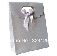 Free shipping 20pcs/lots 31.5*24*12cm gray PP gift packaging bag,thickening holiday gift bag,accessorie packaging gift bag