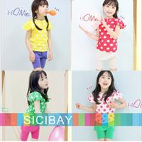 Hot Girls Dot Suits Kids Skinny Sets,Dot Tshirts + Skirtpants,Free Shipping  K0498