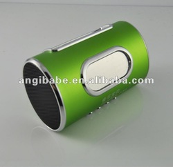 Outdoor Cylinder mini speaker portable laptop speakers with FM radio,TF card slot,USB port(China (Mainland))
