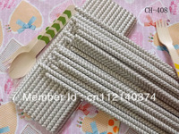 Grey Chevron Stripe Paper Party Drinking Straws CH-408C 500pcs