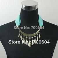 2014 Fashion Women Vintage/ Statement /Choker /Punk Costume / Pendant Necklace with Stone, Necklaces Jewerly, Wholesale