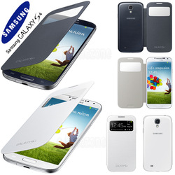 Genuine Official Samsung Galaxy S4 S View Cover Case Black & White ,Free Shipping(China (Mainland))