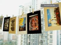 2sets/lot Free Shipping Paper Photo Frames Leading New Fashion Of Paper Frame 1set=10pcs Frames+10Clips+3M Hemp Rope