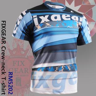 {No. RM-5202} FIXGEAR Tennis Golf T-Shirts Custom Design Printing Men's Sports Tee  Crew Neck Short T-shirts
