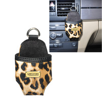 Leopard design Mini Folding Car Mobile Phone Holder Storage Case Car Accessories