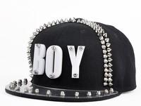 2013 new arrival jazz hat baseball cap spike studded  Acrylic board cap boy rock hip-hop hat snapback baseball hiphop cap