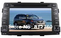 Car DVD player for  Kia Sorento 2009-2012 with GPS navigation Bluetooth Ipod Radio TV V-CDC 3G USB Host optional