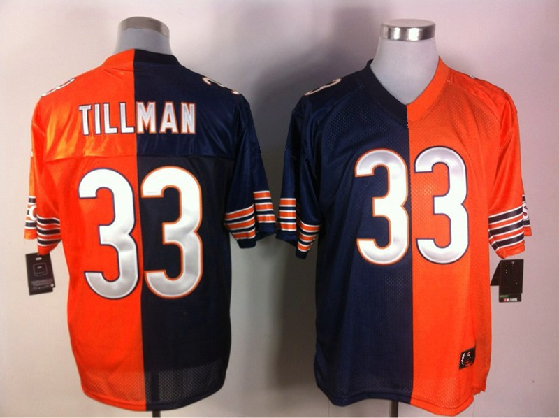Cheap Shop for #33 Charles Tillman Blue/Orange Split Men Elite Stitched NFL Jersey(China (Mainland))