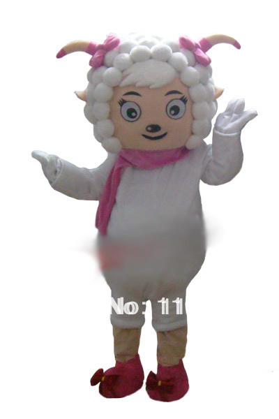 New Arrival Beautiful Goat Mascot costume,Beautiful Goat Cartoon Doll performance clothing(China (Mainland))