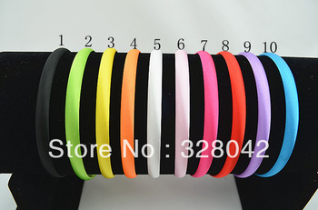 Trail order 10 colors Girl 10mm Satin Headbands Children Headbands hair band hair accessories 50pcs/lot Free Shipping