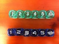Table beautiful transparent 6 digital dice bosons