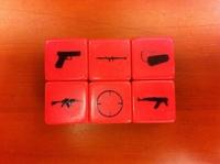 16mm gun dice pistol Hotchkiss ak47 submachinegun 16 myvatn bosons toy 16 gun boulimia