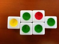 16 camescreeching dice 16 big circle bosons traffic light color is a good helper