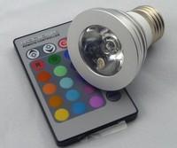3w rgb spotlights romantic led remote control rgb color light ledrgb colorful lights