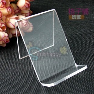 Single tier acrylic mobile phone bracket digital products mobile phone holder display rack cell phone holder jewelry stand(China (Mainland))