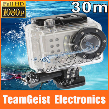 2014 Sport DV 5.0MP HD CMOS Sensor 1080P digital camera connect to TV with Digital video camcorder waterproof 30m Anti-shaking