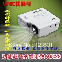 UNIC/Multidimension UC28 household mini LED projector/Support computer TV USB flash SD card and DVD