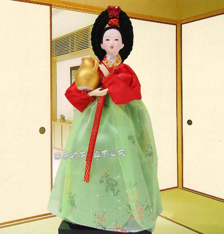 free shipping decoration , birthday gift decoration gift handmade wedding doll Korea national toy(China (Mainland))
